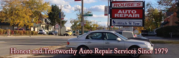 Rouse's Auto Repair store front sign